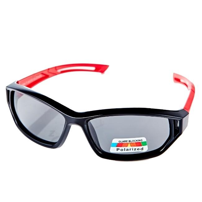 【Z-POLS兒童款】《橡膠軟質彈性壓不壞款》 Polarized頂級防爆偏光抗UV400兒童運動眼鏡!送盒裝全配!1