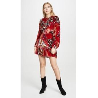 ファーム FARM Rio レディース ワンピース ワンピース・ドレス Winter Leaf Velvet Dress Red Multi