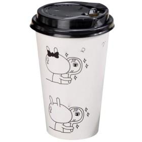 KATH 紙コップ使い捨てティーカップ紙コップふた肥厚ティーカップコーヒーカップテイクアウト豆乳カップはカスタマイズすることが可能で (Color : White)