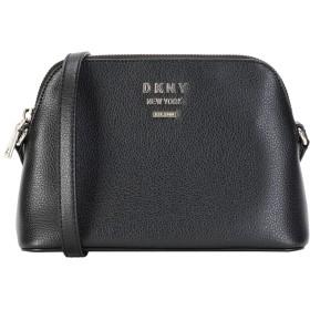 《セール開催中》DKNY レディース メッセンジャーバッグ ブラック 牛革 100% WHITNEY PEBBLE