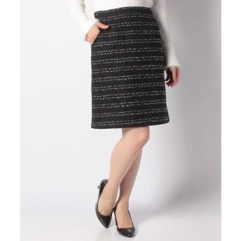 Rew de Rew ツイードタイトスカート(9R10 111002)(ブラック)【返品不可商品】