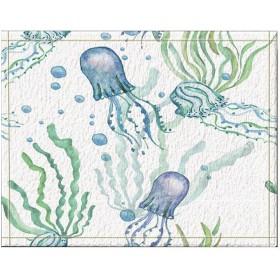 Assanu Ins風漫画クラゲ柄装飾ルーム装飾ホームディスプレイ出入り口歓迎浴室浴室リビングルーム絶妙な滑り止めカーペット