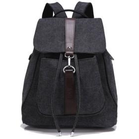 QLSQ帆布リュック メンズ レディース ディバッグ 男女兼用 多機能 通学 旅行バッグ キャンバス レトロ 通勤 バッグ キャンバス おしゃれ 全6色
