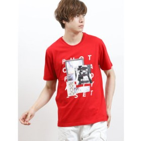 【semantic design:トップス】ヒートチェンジ/HEAT CHANGE グラフィックロゴクルーネック半袖Tシャツ