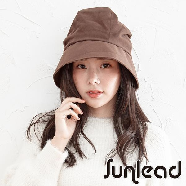 Sunlead 小顏美型。蓄熱保暖可折邊抗靜電防寒軟帽 (深棕色)