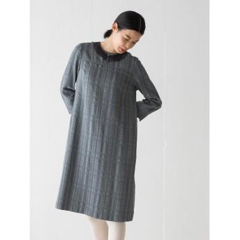 Sally Scott サリースコット 【冬春対象商品】Deep check / ドレス ワンピース,グレー(03)