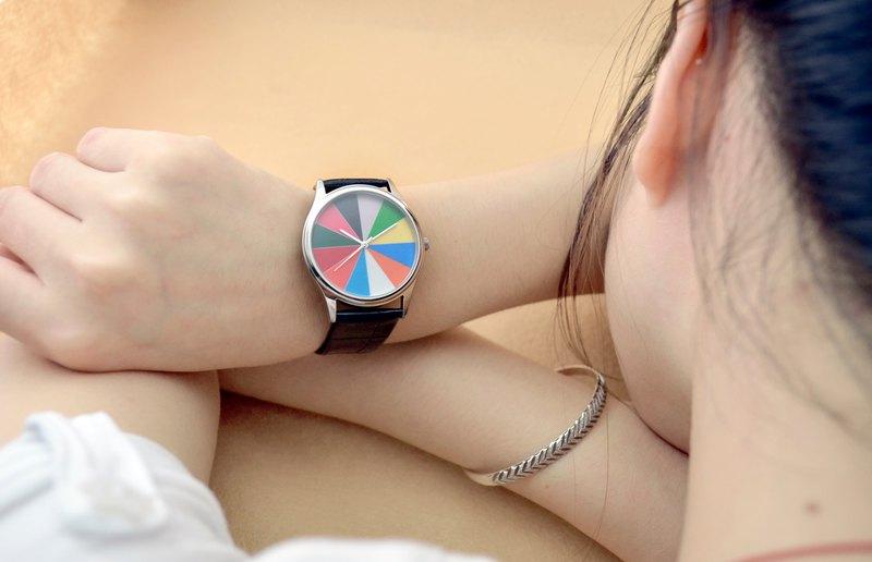 色彩繽紛手錶 (12等分) - 全球免運費