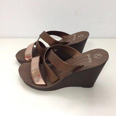 《現貨》Grendha 女生 拖鞋 巴西尺寸33/34,35,36,37,38(低調奢華交叉帶 厚底楔型涼鞋-古銅金)