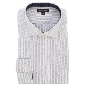 (TAKA-Q/タカキュー)【大きいサイズ】グランバック/GRAND-BACK 形態安定ワイドカラー長袖シャツ/メンズ ブルー