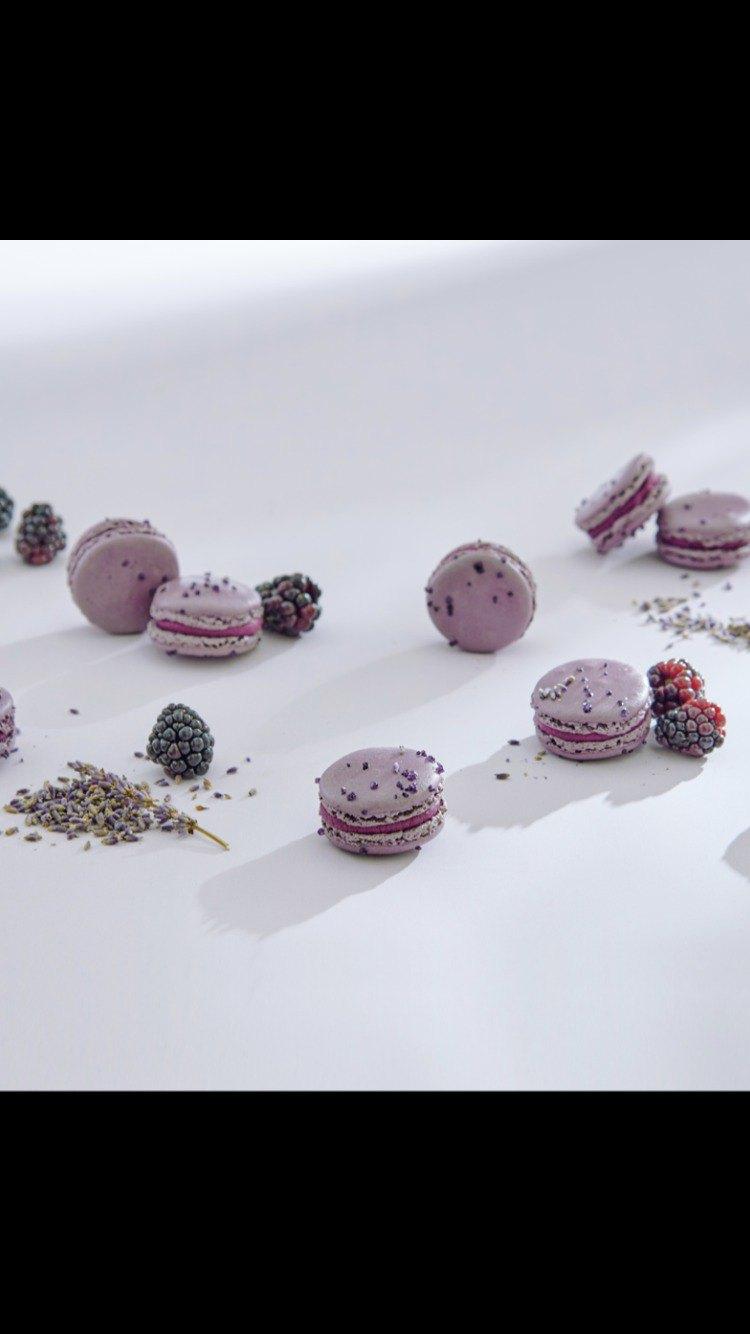 HERSTON【 薰衣草黑莓 】1入馬卡龍