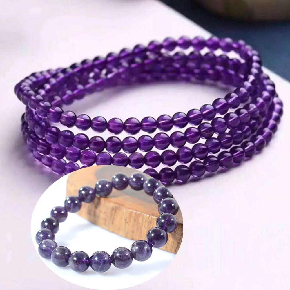 4mm紫水晶三排手鍊/手環(贈紫水晶手珠)