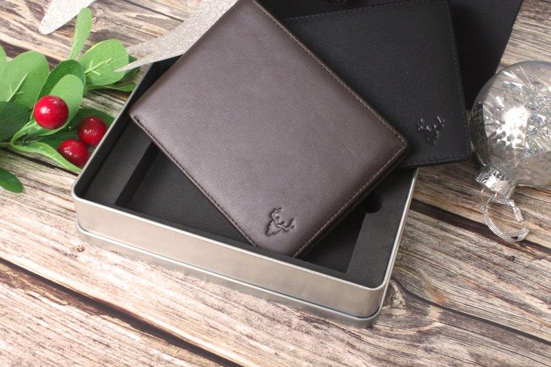 深棕 - Eleutherios 旅行皮夾 帶RFID防盜保護