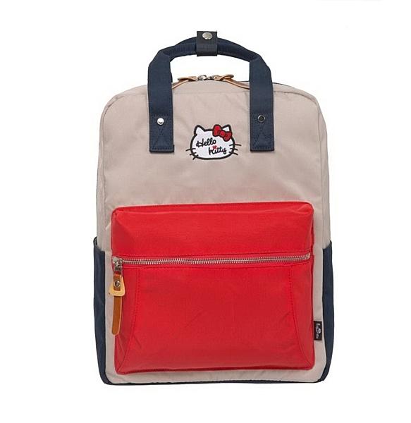 【Hello Kitty】凱蒂學院-方型後背包-紅藍 FPKT0F001RNG