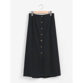 Perle Peche カルゼフロントボタンスカート(ネイビー)