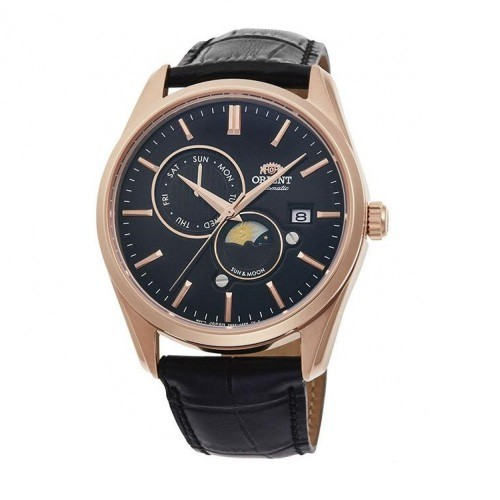 ORIENT 東方錶 (RA-AK0304B) SUN&MOON系列 日月相錶 皮帶款 玫瑰金色 41.5mm