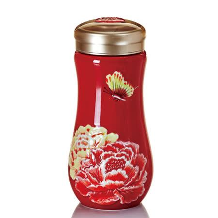 乾唐軒活瓷盛世牡丹隨身杯(大 / 雙層 / 紅彩)
