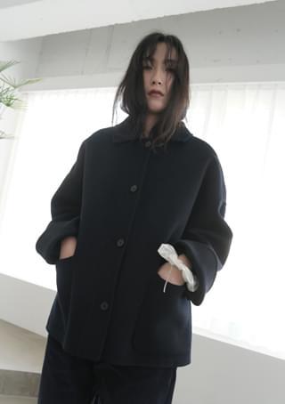 韓國空運 - calm over handmade half coat 大衣外套