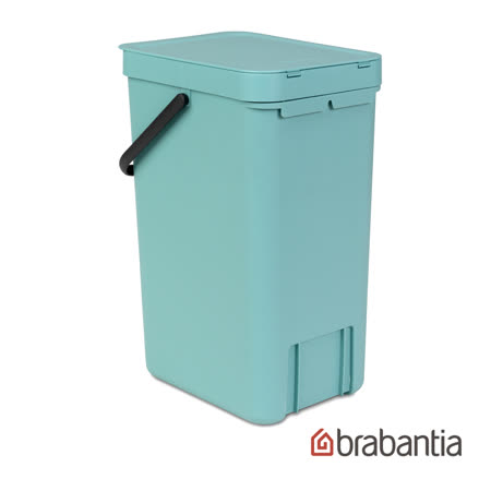【Brabantia】多功能餐廚置物桶16L-薄荷藍
