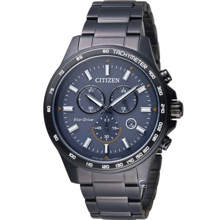 CITIZEN 星辰 Eco-Drive 時尚城市三眼計時腕錶 AT2425-80H