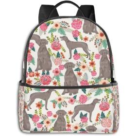 花と犬 リュック バックパックリュックサック 大容量 PCバッグ レジャーバッグ 旅行カバン 登山リュック ビジネスリュック ユニセックス おしゃれ 人気