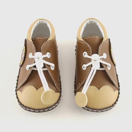 【愛的世界】LW虎頭寶寶鞋(高筒)/學步鞋(咖啡色)-台灣製-