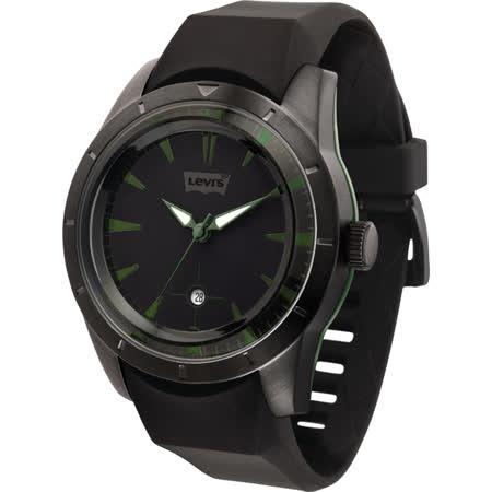 Levi's 迷人酷調時尚腕錶(黑綠)