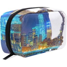 GUKISALA 化粧ポーチ,ジャズ,大容量コスメケース多機能旅行用高品質収納ケース メイク ブラシ バッグ 化粧バッグ ファッションバッグ