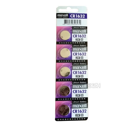 日本品牌水銀電池 maxell CR1632 鈕扣型水銀電池(一卡5入)
