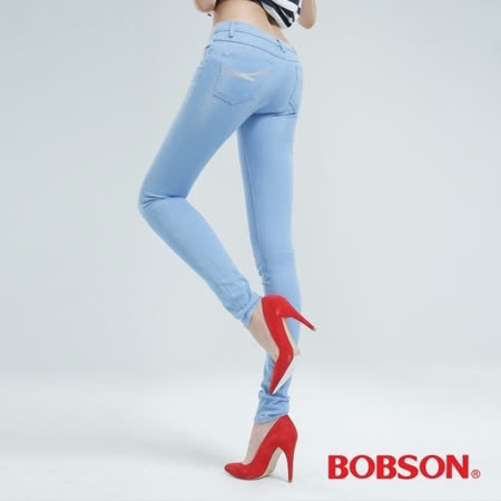 BOBSON 女款大彈力緊身牛仔褲(JEGGING) (8124-58)