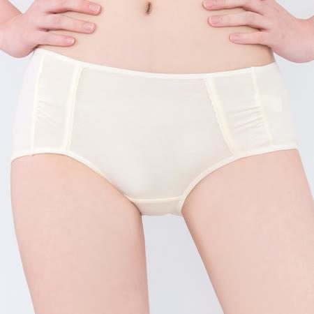 【思薇爾】牛奶紗系列M-XL素面中低腰平口內褲(清澈黃)