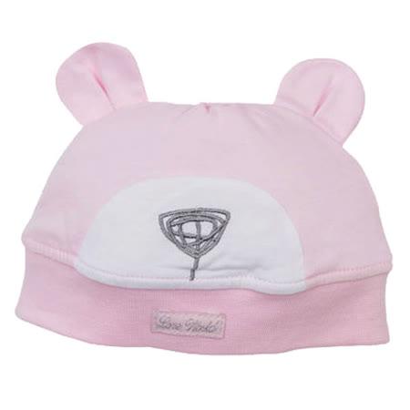 【愛的世界】LOVEWORLD 北極熊造型鋪棉帽子-粉/38~40CM-台灣製-