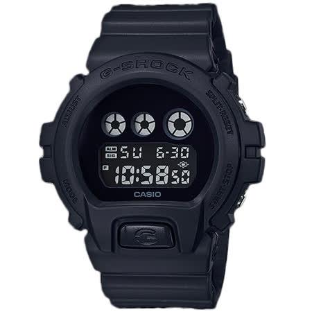 G-SHOCK 酷炫電子男錶 橡膠錶帶 消光黑 防水200米 DW-6900BBA-1
