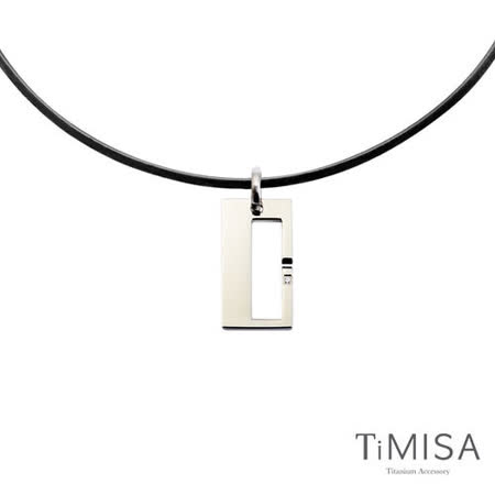 【TiMISA】 扣住幸福-大 鈦項圈