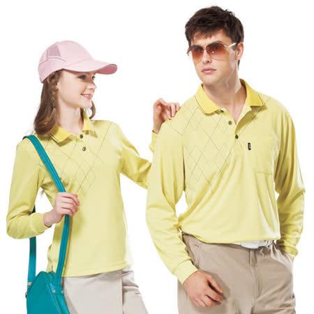 【SPAR】吸濕排汗長袖POLO衫(男SP59531、女SP77531)檸檬黃色