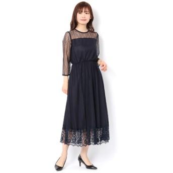 【アルアバイル/allureville】 シアーレースドレス