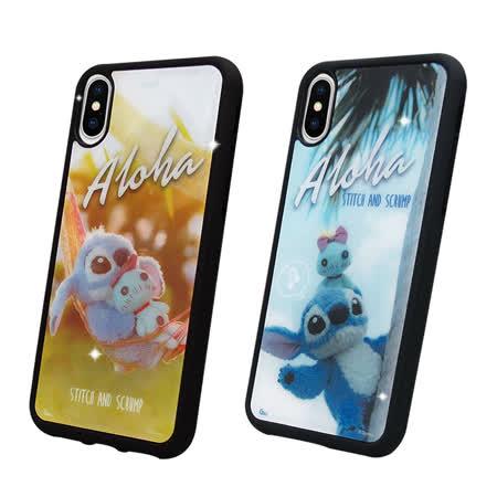 迪士尼正版授權 iPhone X 史迪奇布偶版 防滑手機殼(吊床/hi) ix