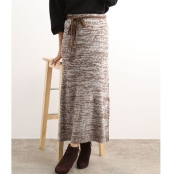 ビス(ViS)/【WEB限定】ウエスト紐メランジニットスカート