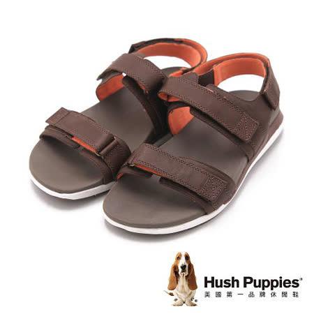 Hush Puppies 機能健走系列ACTUALLY QUICK 涼鞋 男鞋-棕(另有藍)