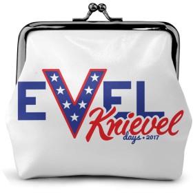 Evel Knievel Days 2017 がま口 がまぐち 小銭入れ レディース レザー 財布 ウォレット お札入れ キュート カード入れ