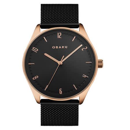 OBAKU秋日時尚氣質腕錶-黑
