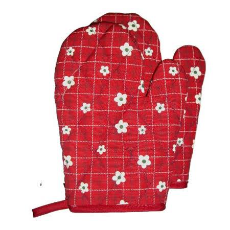 小花精緻隔熱手套-1雙組F251-紅色