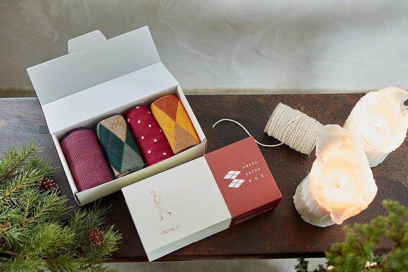 【聖誕節禮物】鞋下風景紳士襪組 繽紛紅M│交換禮物│襪子│女