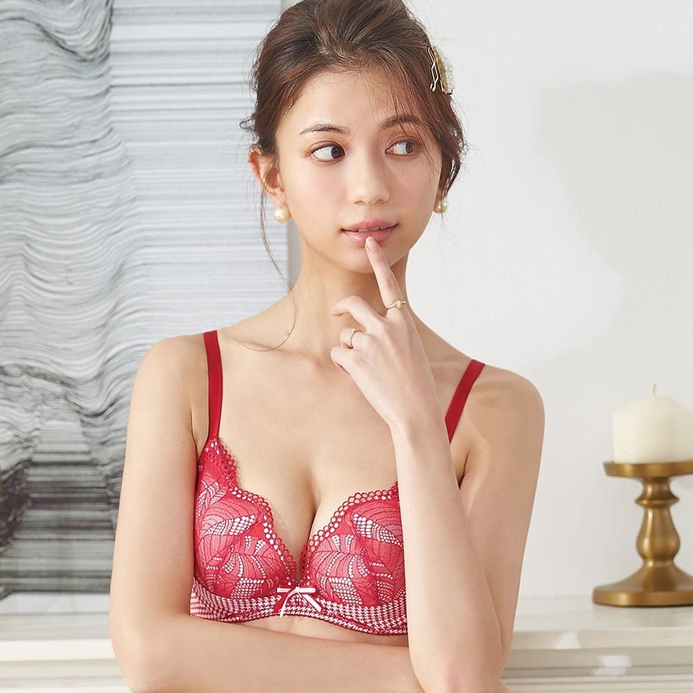 【蕾黛絲】千鳥格真水 B-D罩杯內衣(魔力紅)