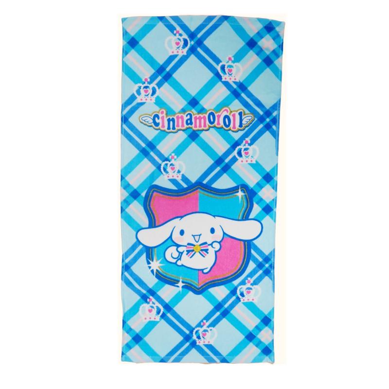 【Sanrio三麗鷗】大耳狗菱格紋-毛巾 100%棉 33x76cm