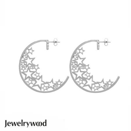 Jewelrywood 光芒奪目滿天星耳環(白金)