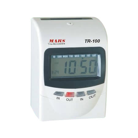 MARS TR-100 【變色螢幕】微電腦打卡鐘【加贈卡片100張+10人卡架】