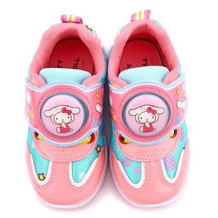 童鞋城堡-Kitty X 布丁狗聯名款 中童 輕量跑底電燈運動鞋KT7181-藍