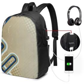 バックパック USB ポート搭載 17インチPC対応 タン 大容量ビジネスリュック 通勤 通学 出張 旅行 メンズ レディース