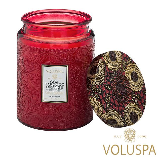 美國 VOLUSPA 日式庭園 Goji Tarocco Orange 枸杞黃金紅橙 錫盒 香氛禮盒 453g