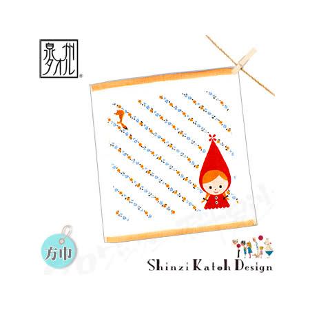 【クロワッサン科羅沙】日本毛巾~加藤真治童話故事系列~小紅帽斜花帕方巾 30*30CM
